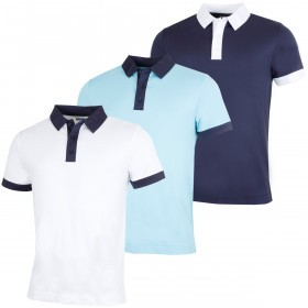 Callaway Golf Mens Contrast Collared Polo Shirt