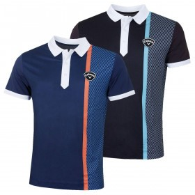 Callaway Mens 2019 Bold Linear Print Golf Polo Shirt