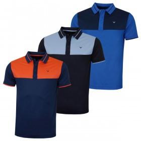 Callaway Mens Colour Block Golf Polo Shirt