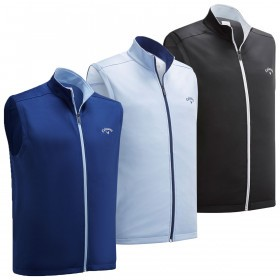 Callaway Mens High Gauge Full Zip Golf Fleece Vest