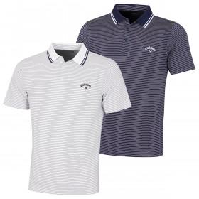 Callaway Golf Mens 2020 Micro Stripe Tour Opti-Dri Moisture Wicking Polo Shirt