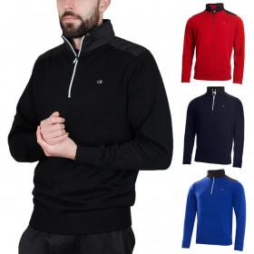 Calvin Klein Golf Mens Extend Lined Merino 1/4 Zip Pullover Sweater