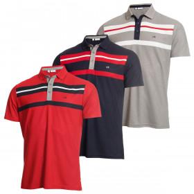 Calvin Klein Golf Mens Anchor Wicking Short Sleeve Polo Shirt