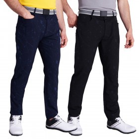 Calvin Klein Mens 2021 Genius 4 Way Stretch Cracked Print Golf Trousers