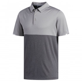 adidas Golf Mens Heather Block Competition Polo Shirt