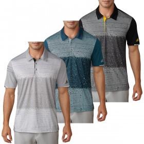 adidas Golf Mens Climachill Pixel Print Polo Shirt
