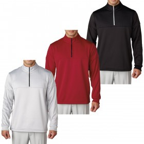 Adidas Golf 2016 Mens climawarm Debossed 1/4 Zip Pullover