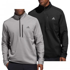 adidas Golf Mens 2019 Climawarm Gridded 1/4 Zip Sweater