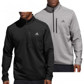 adidas Golf Mens Climawarm Gridded 1/4 Zip Sweater