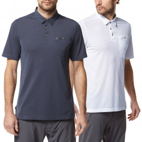 Craghoppers Mens NosiLife Gilles Short Sleeved Light Polo Shirt