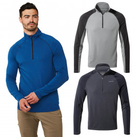 Craghoppers Mens 1st Layer Half Zip Long Sleeve Thermal Baselayer