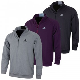 adidas Golf Mens Club 1/2 Zip Chested Pullover