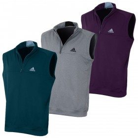 adidas Golf Mens Club 1/4 Zip Crested Vest