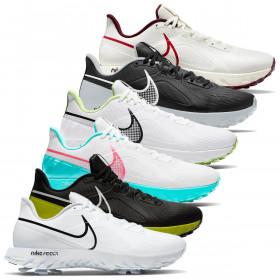 Nike Mens 2021 React Infinity Pro Waterproof Nikeskin Spiked Golf Shoes