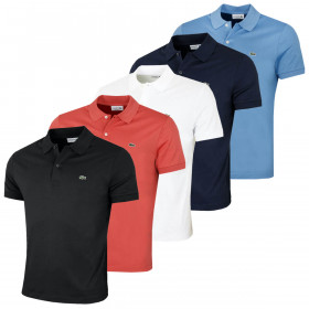 Lacoste Mens 2021 Short Sleeved Ribbed Collar Soft Cotton Polo Shirt