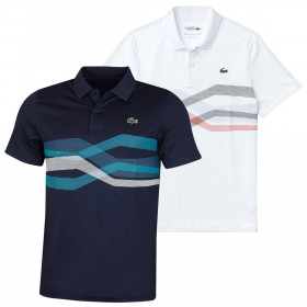 Lacoste Mens 2020 DH4761 Super Dry Stretch Ribbed Crocodile Polo Shirt
