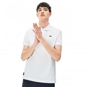 Lacoste Mens Lifestyle 3 Button Ribbed Collar Crocodile Polo Shirt