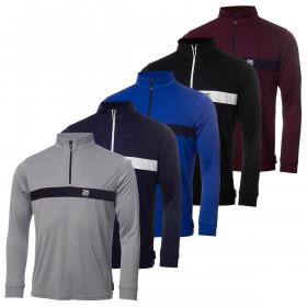 DKNY Mens 2021 Tournament 1/4 Zip Moisture Wicking Golf Sweater