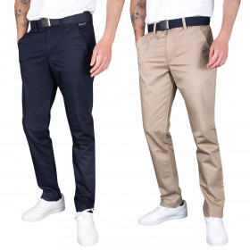 Dwyers & Co Mens 2021 Titanium Chino 2 Lightweight Stretch Golf Trousers