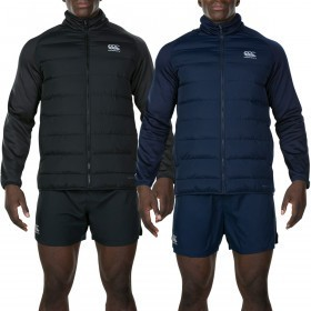 Canterbury Mens Thermoreg Insulated Stretch Fleece Lined Hybrid Jacket