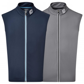 Footjoy Mens 2021 Full Zip Knit Stretch Wicking Two Tone Contrast Golf Vest