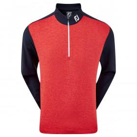 Footjoy Mens Heather Colour Block Chill Lightweight 1/4 Zip Golf Sweater
