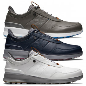 Footjoy Mens 2021 Stratos Waterproof StratoFoam Spikeless Leather Golf Shoes