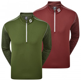 Footjoy Mens 2021 Tonal Heather Chill-Out Midlayer Wicking Golf Sweater