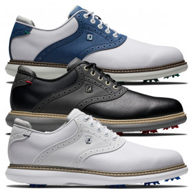 Footjoy Mens 2021 FJ Traditions Waterproof Leather Cushioned Spiked Golf Shoes