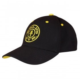 Golds Gym Mens Curved Peak Cap - Black/Yellow - One Size