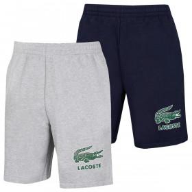 Lacoste Mens 2021 GH0528 Non-Brushed Fleece Crocodile Elasticated Summer Shorts