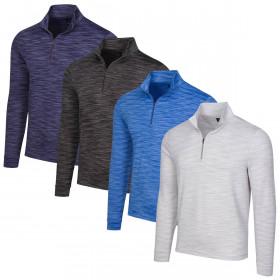 Greg Norman Mens 2020 Long Sleeve 1/4 Zip Wicking Mock Golf Sweater