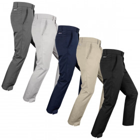 Greg Norman Mens Golf Flat Front Tech Taper Fit 5 Pocket Trousers