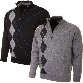 Proquip Golf Mens Intarsia Wool Lined Pullover