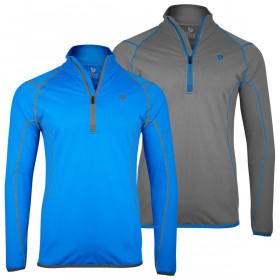 Island Green Mens 2020 Contraststicth 1/4 Zip Thermal Golf Sweater