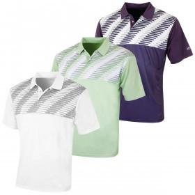 Island Green Mens Snaps Placket CoolPass Golf Polo Shirt Tech