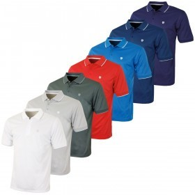 Island Green Mens Solid CoolPass Golf Polo Shirt