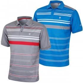 Island Green Mens Sublimation Striped Golf Polo Shirt