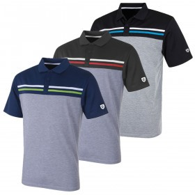 Island Green Mens 2019 Golf IGTS1785 Laid On Stripe Polo Shirt
