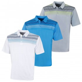 Island Green Mens 2019 Golf IGTS1875 Printed Line Polo Shirt