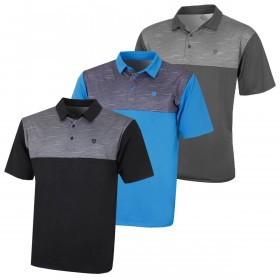 Island Green Mens 2019 Golf IGTS1891 Contrast Yoke Polo Shirt