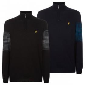 Lyle & Scott Mens 2019 Stripe 1/4 Zip Sweater