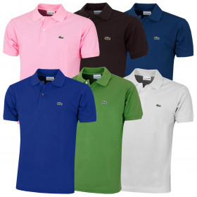 Lacoste Mens 2021 Classic Cotton L1212 Ribbed Short Sleeve Polo Shirt