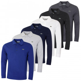 Lacoste Mens 2019 Long Sleeve Ribbed Classic Polo Shirt