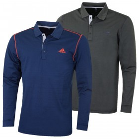 adidas Golf Mens 2019 Long Sleeve Thermal Polo Shirt