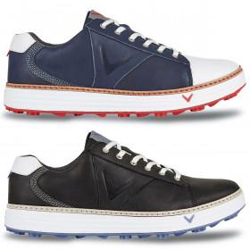 Callaway Golf Mens Del Mar Retro Leather Golf Shoes Waterproof Engery-Return