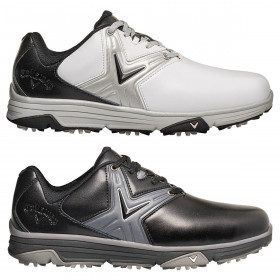Callaway Golf Mens Chev Comfort Leather Waterproof Opti Vent Golf Shoes