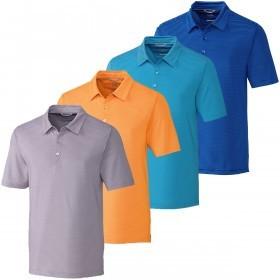 Cutter & Buck Mens Samish Stripe Polo Shirt