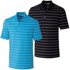 Cutter & Buck Mens Everett Stripe Polo Shirt