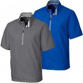 Cutter & Buck Mens SS Nine Iron Half Zip Golf Jacket